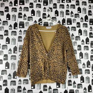 White Stag | Cheetah Print Button Down Cardigan